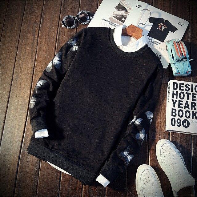 Men Sweatshirt Floral Printed Streetwear  5