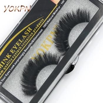 YOKPN 100% Mink False Eyelashes Models Naturally Messy Bushy False Eyelashes Fashion True hair Cross False Eyelashes Makeup tool 1
