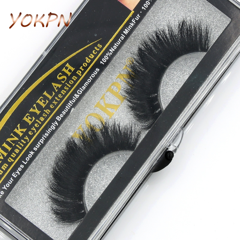 YOKPN 100% Mink False Eyelashes Models Naturally Messy Bushy False Eyelashes Fashion True Hair Cross False Eyelashes Makeup Tool