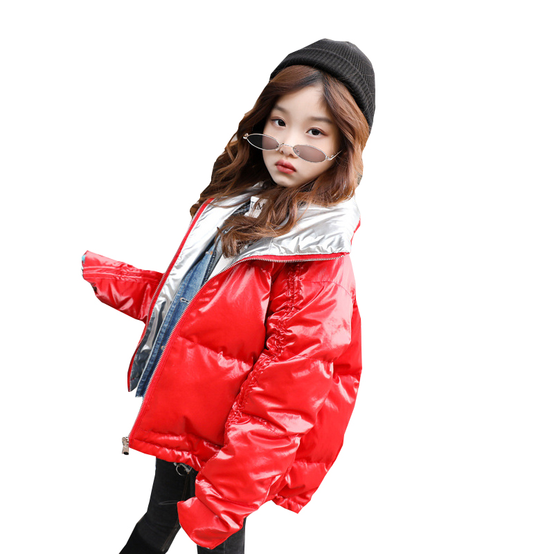 Girls Winter Coats for Kids Outerwear Jacket Teenage for Girls Jackets Fashion Short Zipper Warm Thick Children Clothing Costume new spring teenagers kids clothes pu leather girls jackets children outwear for baby girls boys zipper clothing coats costume