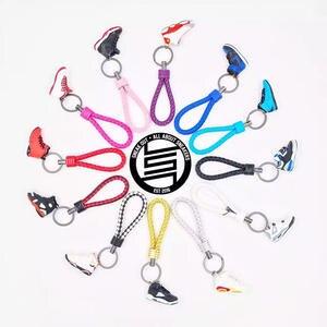 8574d7ff5f71 3D Sneaker Keychains Strap Lanyard keys Bag Shoes Gift