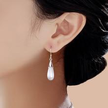New Style 925 Sterling Silver Drop Earrings Ladies Fantastic Ear Jewellery Water Drops Rose Quartz Moonstone Opal Hanging Earrings