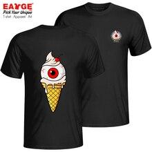 Awesome Vanilla Eyeball Icecream T Shirt Double Print Punk Cool Brand T-shirt Fashion Funny Active Unisex Cotton Black Tee