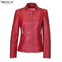 Women Leather Jacket 2017 New Spring Plus Size 5XL 6XL Women Motor Jackets Solid Slim PU