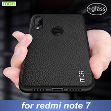 עבור Xiaomi Redmi הערה 7 מקרה כיסוי עבור Redmi הערה 7 פרו מקרה MOFi סיליקון עמיד הלם מקרה קאפות מקורי עור מפוצל folio Coque