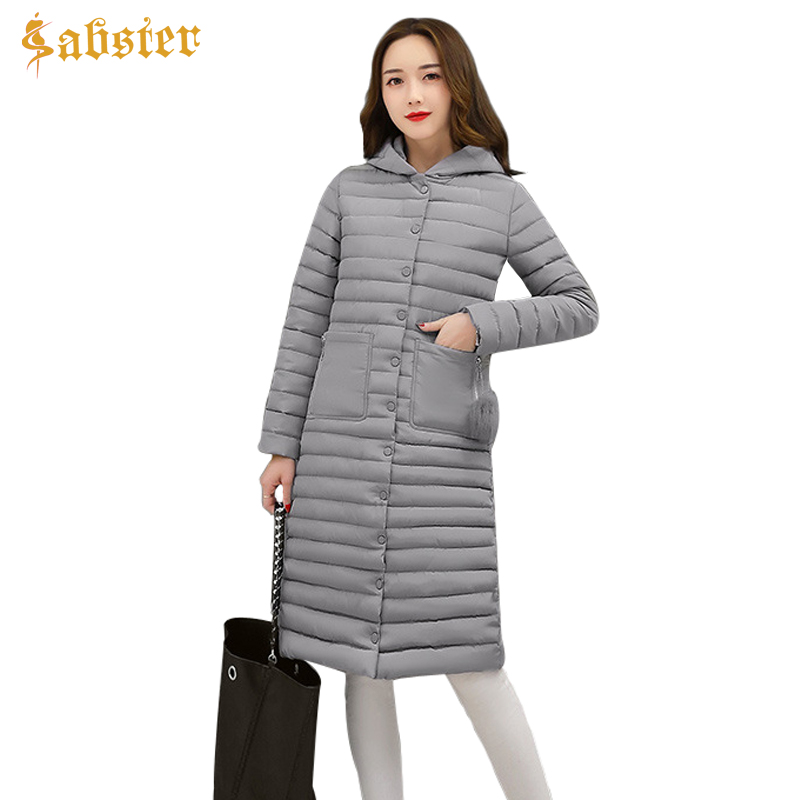 2017 New Korean Winter Women Coat Jacket Fashion Long Warm Woman Hooded Down jacket Cotton Parkas  Female Ladies Clothes winter jacket women new fashion hooded long outwear down cotton parkas ladies thick warm korean loose coat high quality parkas