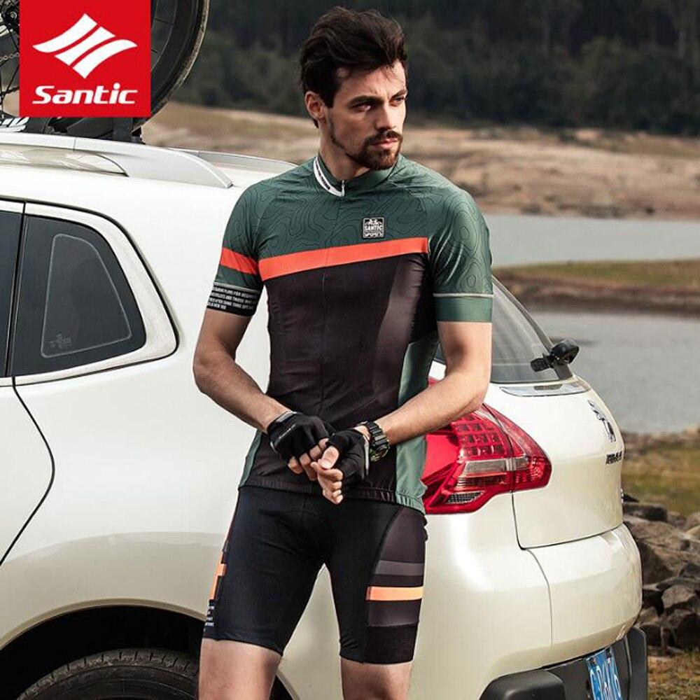 Radfahren Kleidung Tragen Bike MTB Trikots Radfahren Sets Santic herren Fahrrad Jersey Set sommer radfahren Maillot tragen radfahren kit - 3