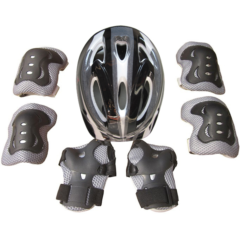 Roller Skating Protector Set Helmet Knee Pad Wrist Guards For 5-15 Years Old Kid