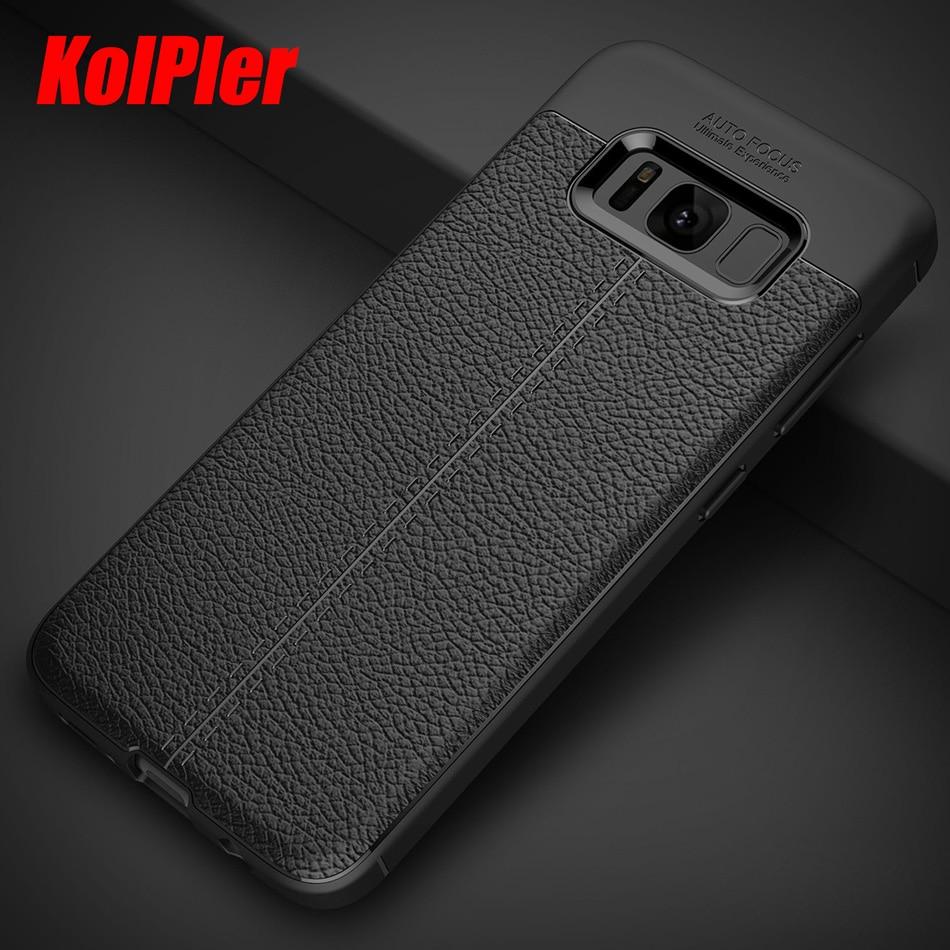 Samsung Galaxy S8 S8 Plus üçün karbon lifli toxumalı TPU silikon - Cib telefonu aksesuarları və hissələri - Fotoqrafiya 1