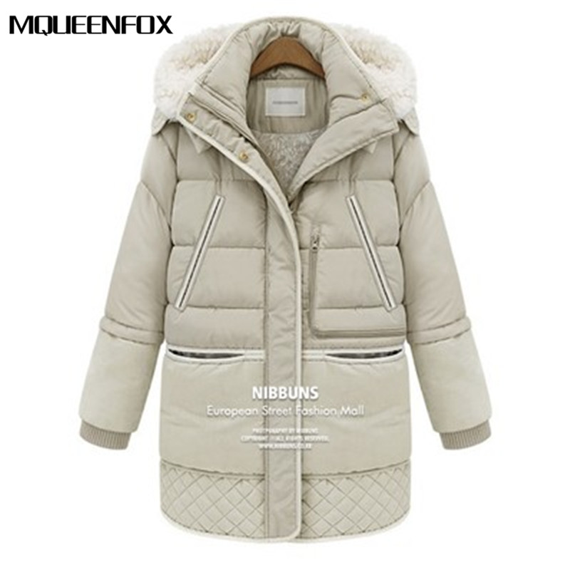 2019 New Women   Parkas   Winter Thick Down Jackets White Duck Feather Lamb Wool Imitation Women's Warm Coat Outerwear Jacket