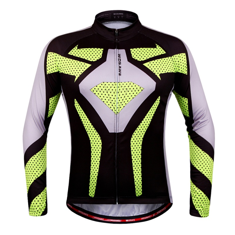 2017 Mens Printing Cycling Jersey Long Sleeve Outdoor Cycle Clothing Quick Dry Riding Color Patchwork Sports Bicycle Clothes
