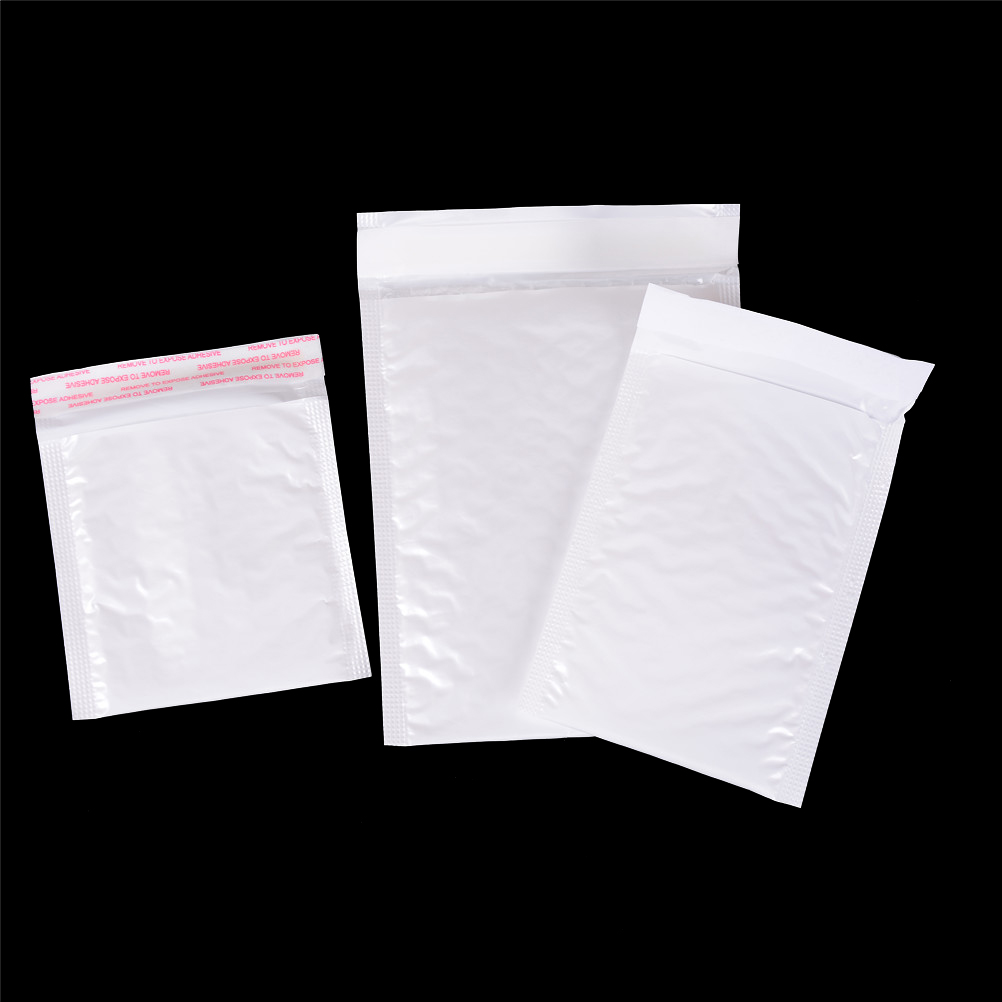 Paper Envelopes Qualified 10pcs/lot White Blank Bubble Mailers Padded Envelopes Multi-function Packaging Material Shipping Bags Bubble Mailing Bags