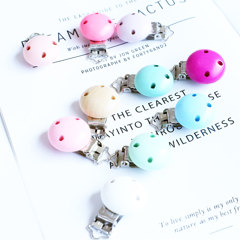 5 Pcs Macaron Color Baby Pacifier Clips Baby Nipple Clasps Holder Molar Teether Teething Baby Accessories