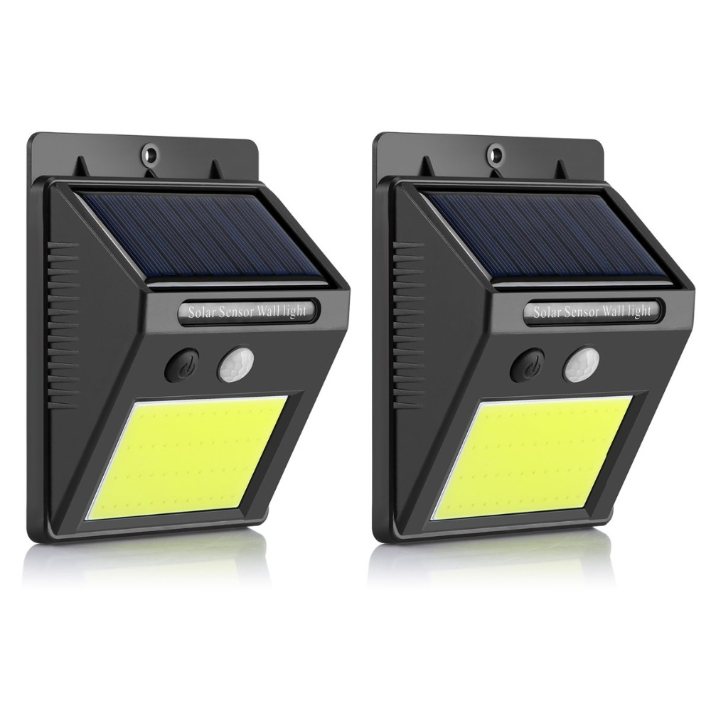 Driveway Night Lights: Solar Garden Lights Motion Sensor IP65 COB 48leds Wall