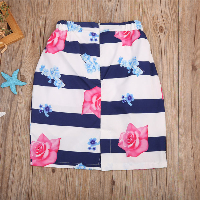 2PCSSet-Family-Match-Clothes-Mother-and-Daughter-Summer-Sleeveless-Vest-TopsFloral-Skirt-Outfits-Matching-Clothing-3