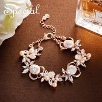 Special Fashion Clover Bracelets & Bangles 925 Sterling Silver Bracelets Fresh Green Charm Bracelets Gifts for Women S1809C