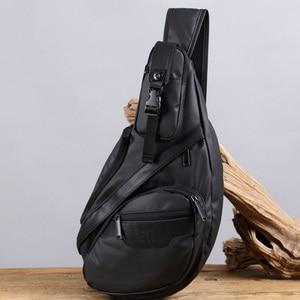 Image 4 - Men Waterproof Nylon Sling Chest Back Pack High Quality Casual Messenger Shoulder  Male Cross Body Bag Fashion Rucksack Knapsack