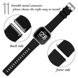 Image 2 - Coolaxy Band Voor Fitbit Versa Band Smart Horloge Pols Band Voor Fitbit Versa Lite Band Siliconen Vervanging Voor Fit bit