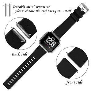 Image 2 - Coolaxy רצועת עבור Fitbit Versa להקת חכם שעון יד צמיד להקת עבור Fitbit Versa לייט רצועת סיליקון החלפת Fit קצת