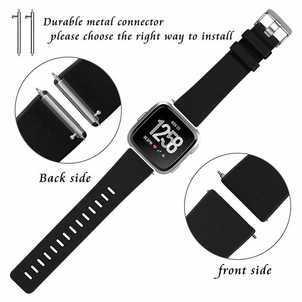 Coolaxy-correa para Fitbit Versa, repuesto de correa de silicona para relojes inteligentes, pulsera para Fitbit Versa Lite