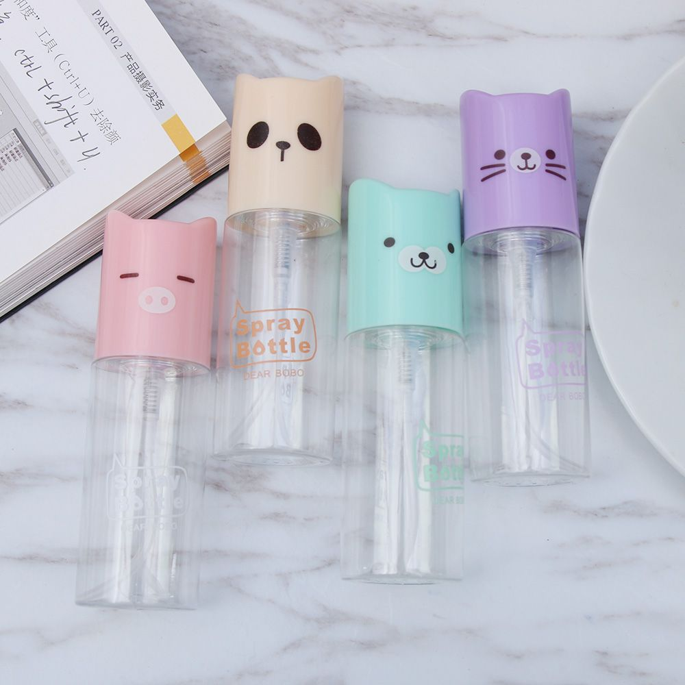 Cartoon Bear Animal Portable Spray Bottle Refillable Empty Perfume Atomizer Spray Bottles Travel Scent Pump Cosmetic Container