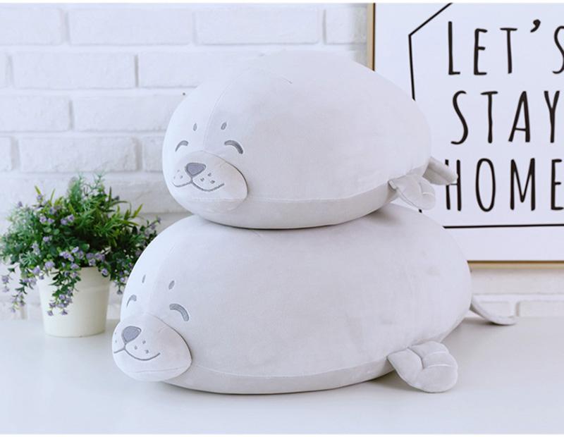 1pcs Cute Soft Animal Sea Lion Doll Baby Sleeping Pillow Marine Animals Seal Plush Toy Kids Stuffed Toys Gift (15)