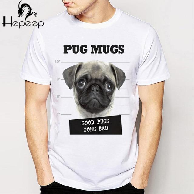 Aliexpress.com : Buy Very cool pug mugs design T shirt men short ...