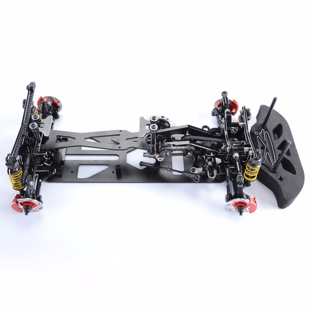 1/10 Scale Black Car Frame Kit G4 Alloy & Carbon Fiber Drift Frame ...