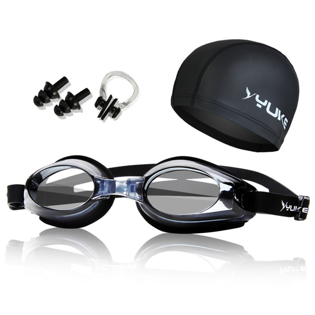 4d33d900a56 Myopia Swimming Goggles HD Shortsighted Swimming Glasses with Hat Diopter Spectacles  Plating Lens Nearsighted Swim Pool Use Set