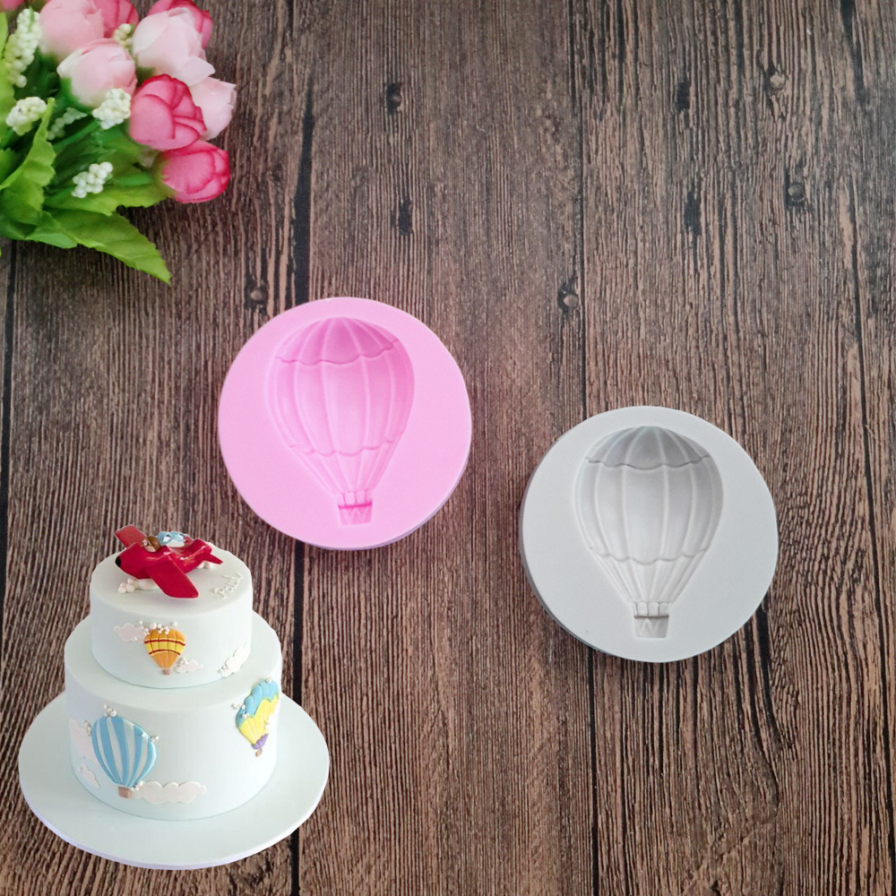 DIY Hot Air Balloon Silicone Fondant Mold Sugar Craft Cake ...