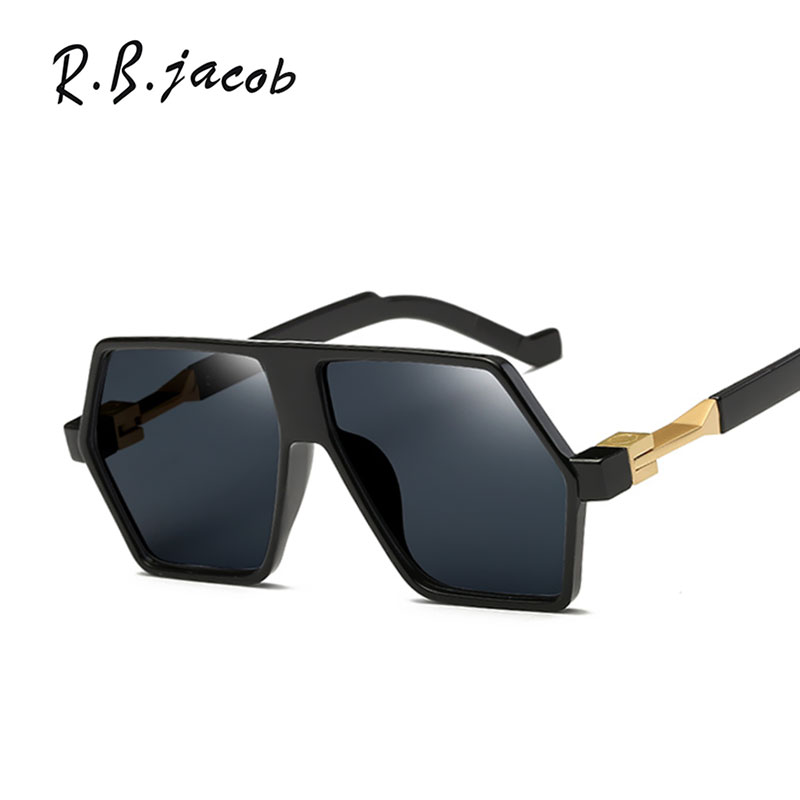 Hip Hop Flat Top lens Punk Brand Designer Mirror Sunglasses Women UV400 Lady Sun Glasses Female Shades popular Fashion Men male