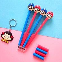48 Pcs/lot Super Marie Mario Gel Pen Signature Pen Escolar Papelaria School Office Supply Promotional Gift