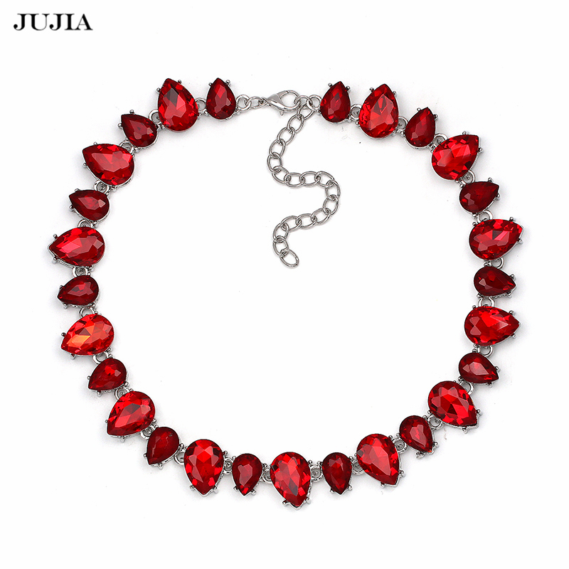 Necklace Luxury Link Vintage Rhinestone Crystal Beads Statement Pendant Necklaces Women Elegant jewelry Mothers day gift