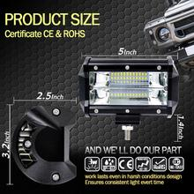 72W LED Work Light Bar for Jeeps Off-road, Emergency Rescue, etc