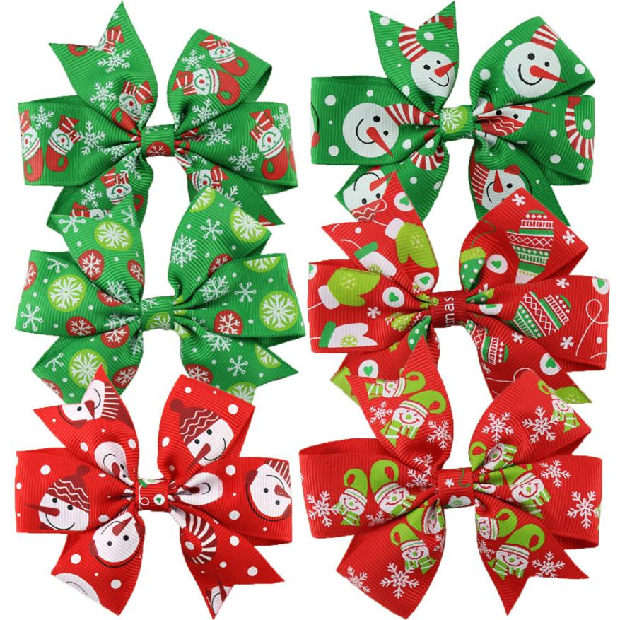 1 UNID Niños Pinzas Para El Cabello Accesorios Para el Cabello de Navidad Para Las Niñas