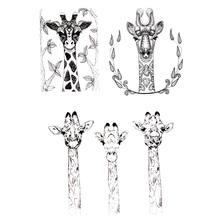 Новости «Жираф» с цветочным узором защитой для скрапбукинга