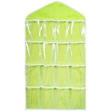 Горячая Распродажа коробка для хранения 16 карманов прозрачная домашняя подвесная сумка для инструментов Носки Бюстгальтер Нижнее белье вешалка органайзер для хранения Высокое качество