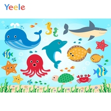 Yeele Photocall Undersea World Child Room Paint Photography Backdrops Personalized Photographic Backgrounds For Photo Studio