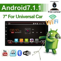 2DIN Car Android 7.1 Car DVD Autoradio Universal Multimedia Car Stereo GPS Navigation Steering Wheel Control Rear View Camera