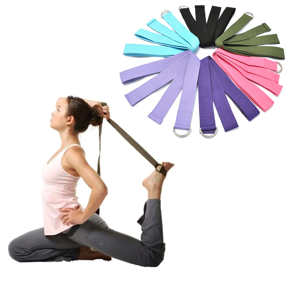 Traditional & Cultural Wear Efficient Yoga Belt 187*3.8cm Cotton Gym Rope Pull Stretch Belt Pilates Band Body Building Sport Yoga Stretch Strap Fitness Accessories Yoga Belts