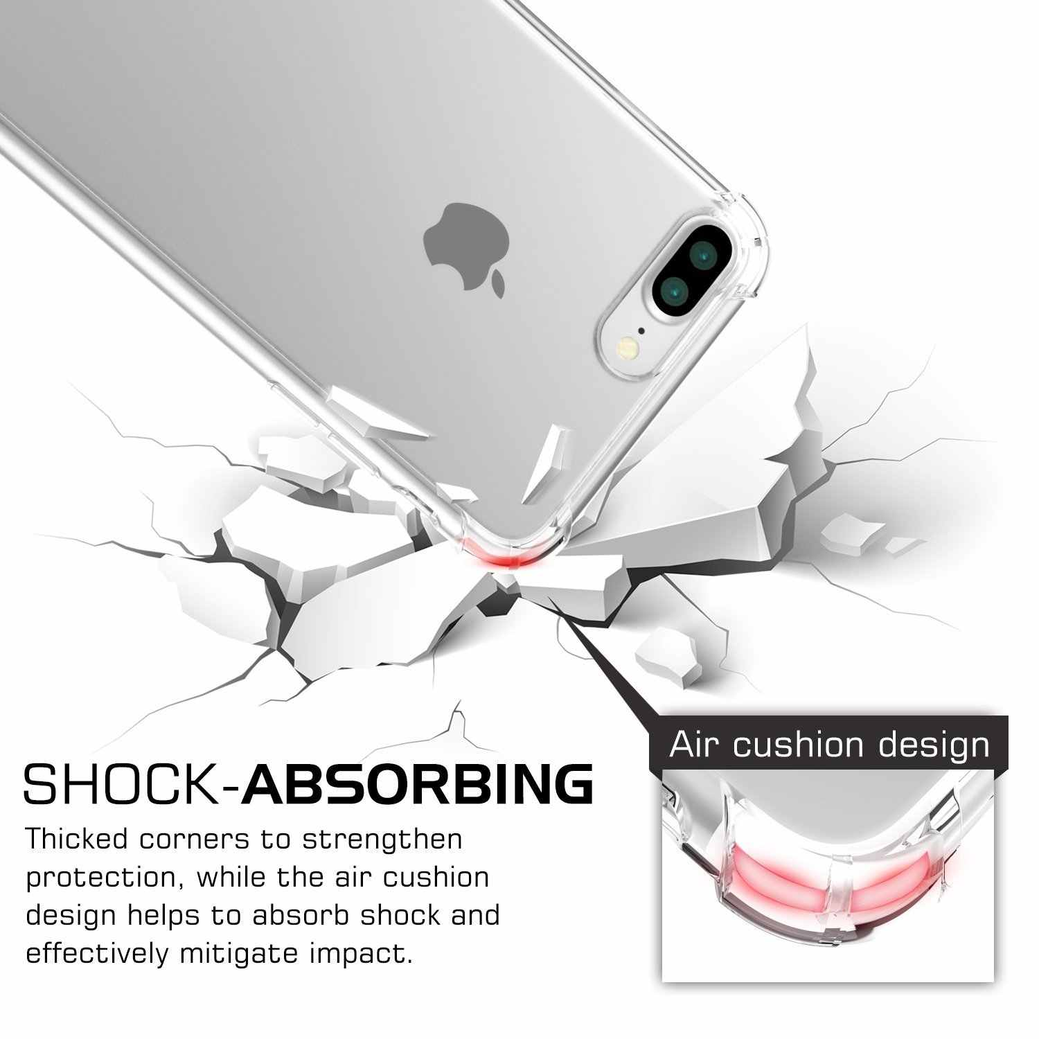Case For iPhone X 8 7 6 6s Plus Clear Soft TPU Case Silicone Transparent Cover For iPhone XS MAX XR 5 5S 4 7PLUS 8PLUS Back Case