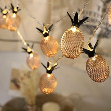 1 5 3m 10 20PCS led string lights with Pineapple Festival Wedding Party Decor Lighting Christmas lights outdoor lighting cheap ICOCO FRUIT None Other Dry Battery Waterproof 10cm 1 5m 3m Retro rose gold plastic and metal Pineapple Shape