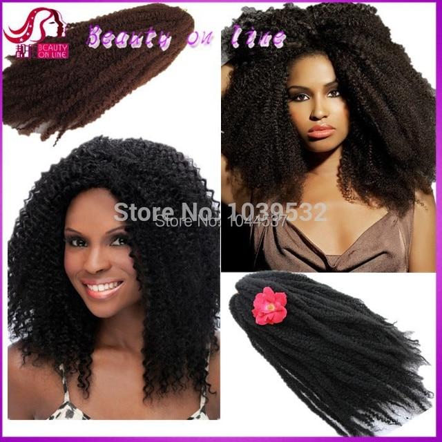 Synthetic Afro Bulk Hair Kanekalon Braiding For Black Women Marley Braid