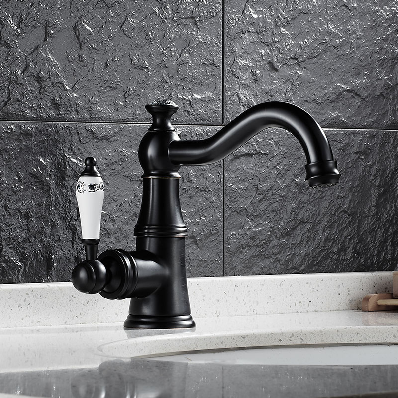 Black/Chrome/Gold/Antique/Nickel Basin Faucet Single Handle Basin Mixer Tap Hot & Cold Bathroom Faucet Sink Water Faucet beelee modern bathroom products chrome and black hot and cold water basin faucet mixer single handle torneira water tap bl6601bh