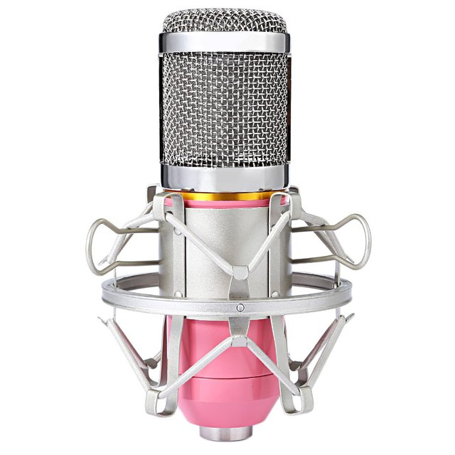 Professional Studio Sound Condenser Microphone 3.5mm with Metal Shock Mount for PC Computer Voice Recording Karaoke