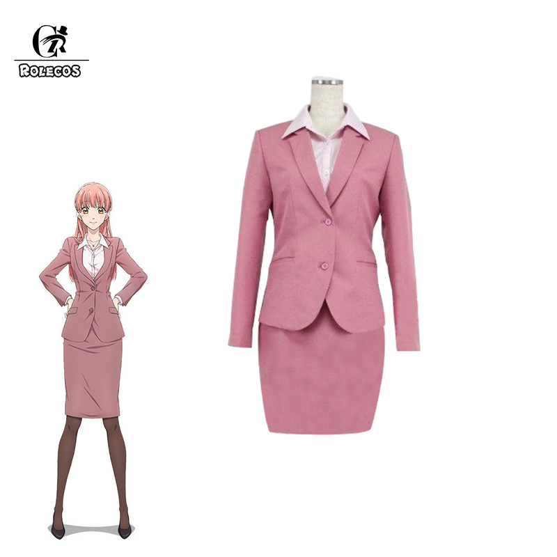 ROLECOS WotaKoi Love is Hard for Otaku Cosplay Costume Narumi Momose Pink Suits for Women Costume Anime Cosplay Lovers