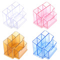 Clear Nail Art Brush Holder Acrylic Cosmetic Organizer Case Home Pen Organize Makeup Storage Box Transparent/Pink/Coffee/Blue