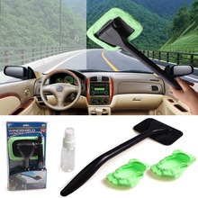 Foldable Car Cleaning Brush Long Handle Car Wash Brush ABS+Microfiber Car Windshield Brush Handy Washable Car Cleaning Products