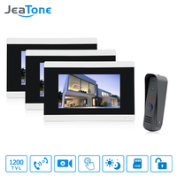 Jeatone 7 Touch Screen TFT LCD Monitor Video Door Phone Intercom System With Night Vision HD