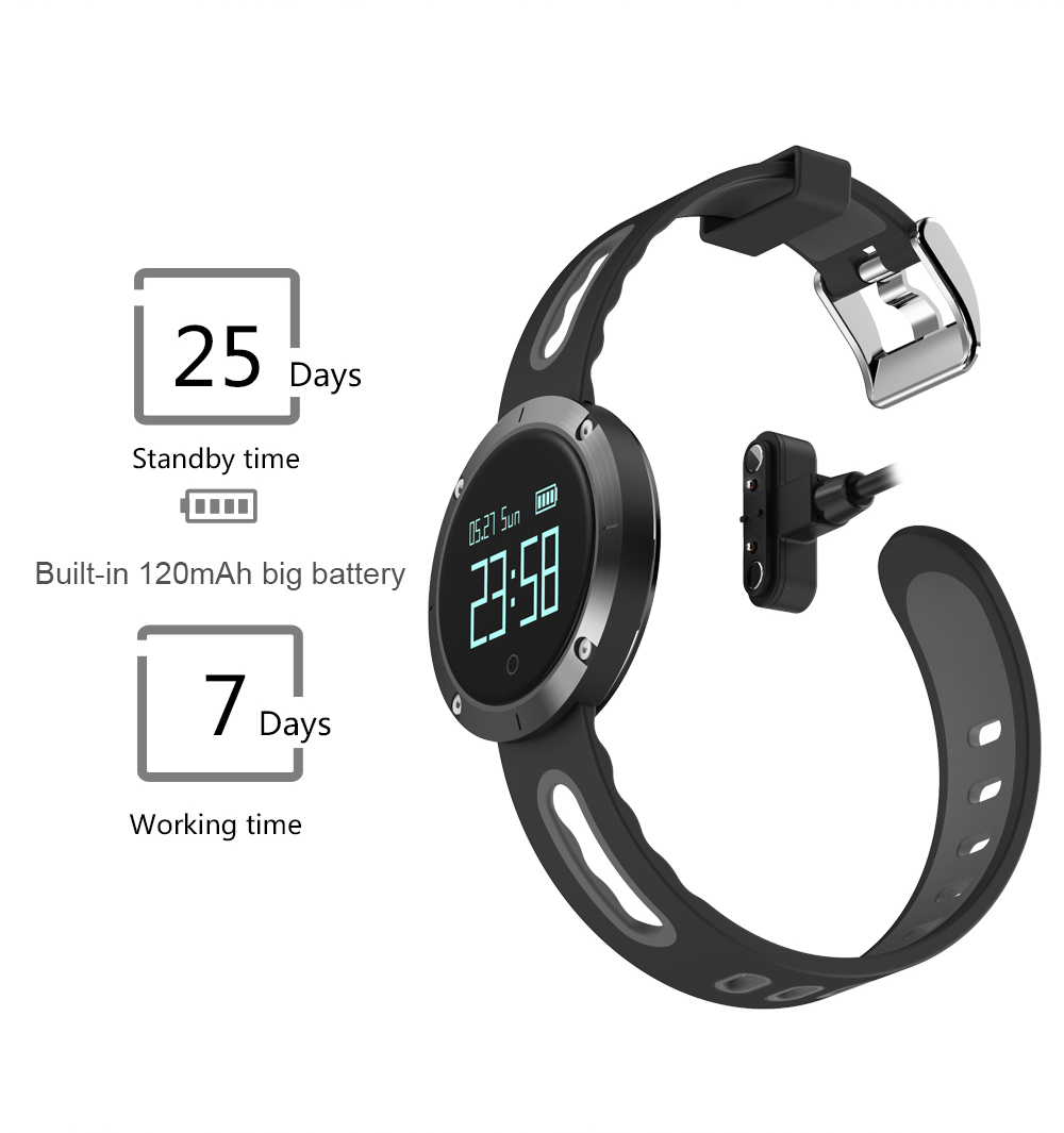 MAKIBES DM58 BLUETOOTH SPORTS HEART RATE SMART BAND WITH BLOOD PRESSURE MONITOR IP68 WATERPROOF WRISTBAND 237054 44